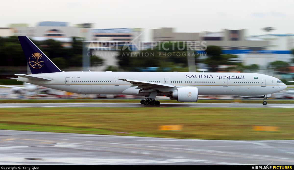 Saudi Arabian Airlines HZ-AK29 aircraft at Singapore - Changi