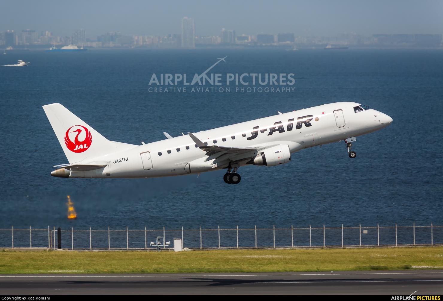 J-Air JA211J aircraft at Tokyo - Haneda Intl