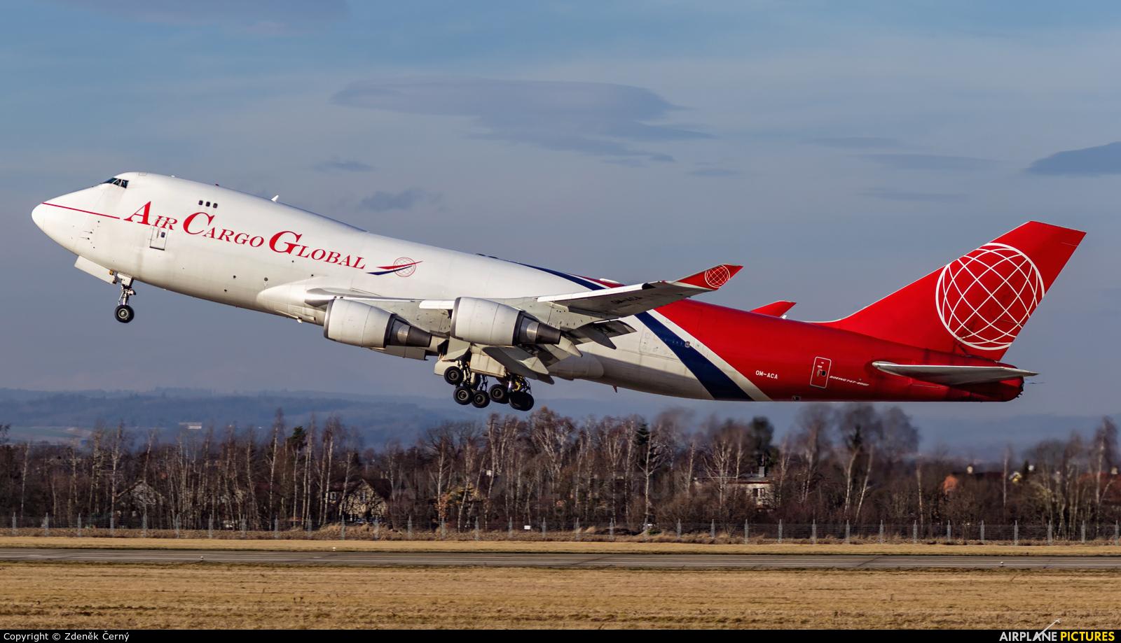 Air Cargo Global OM-ACA aircraft at Ostrava Mošnov