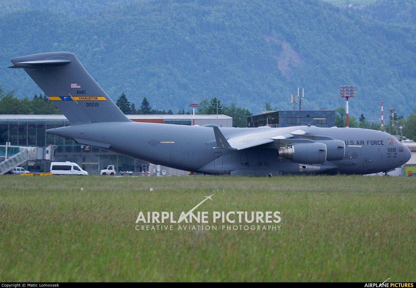 USA - Air Force 10-0221 aircraft at Ljubljana - Brnik