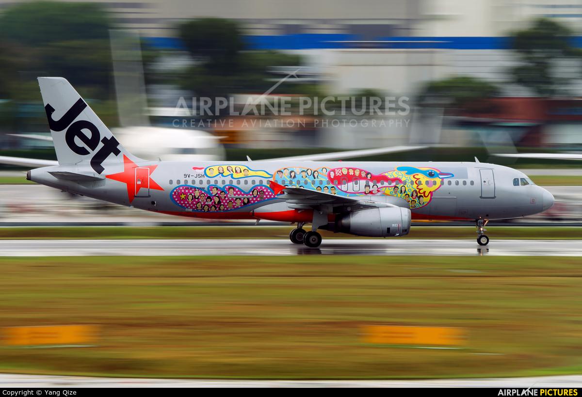 Jetstar Asia 9V-JSH aircraft at Singapore - Changi