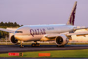 A7-BBE - Qatar Airways Boeing 777-200LR aircraft