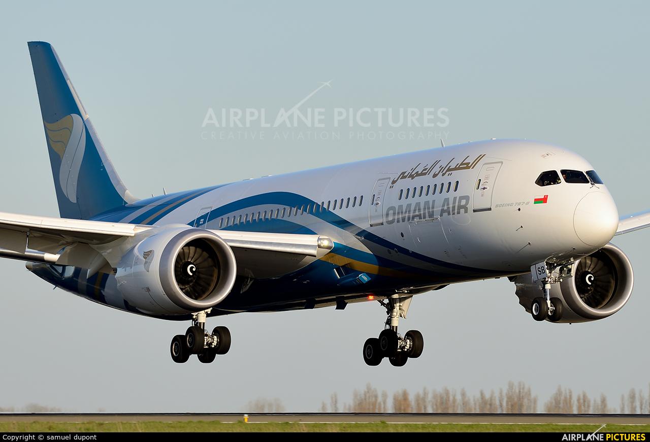 Oman Air A4O-SB aircraft at Paris - Charles de Gaulle