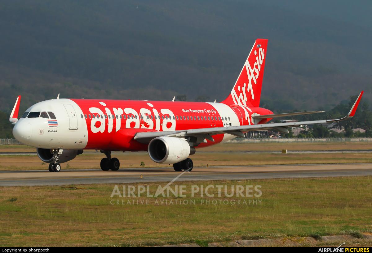 AirAsia (Thailand) HS-BBL aircraft at Chiang-Mai