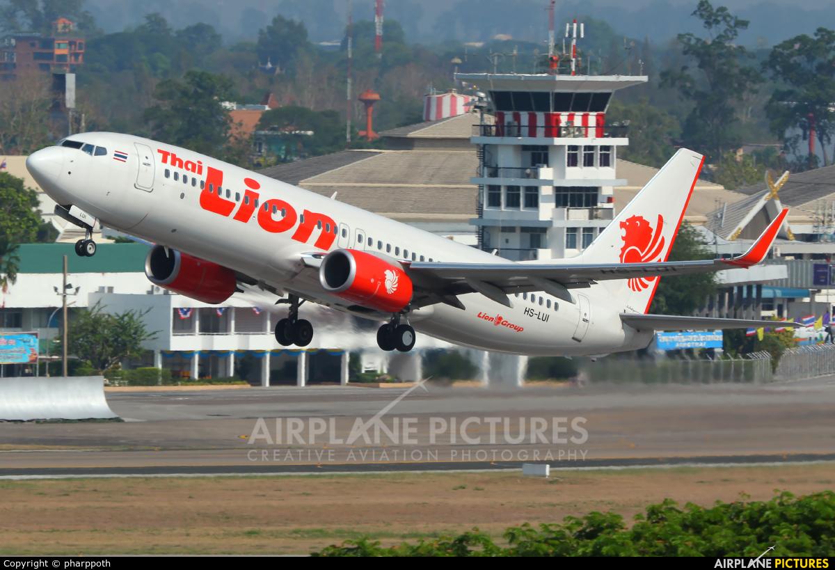 Thai Lion Air HS-LUI aircraft at Chiang-Mai