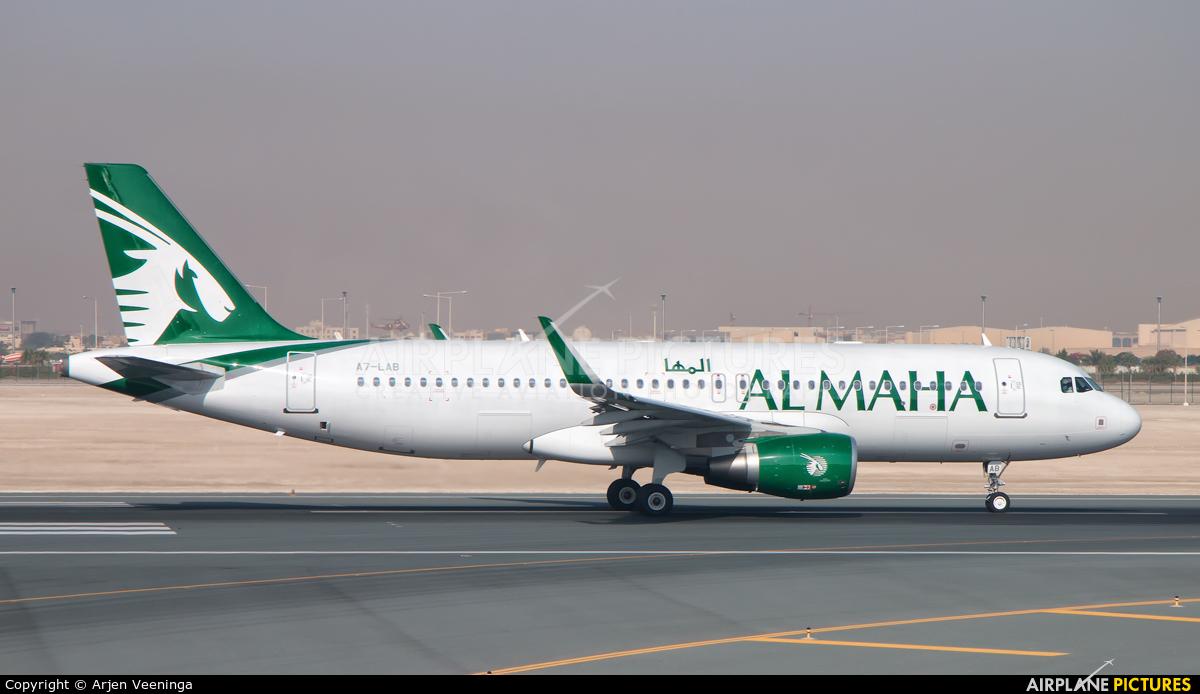 Al Maha Airways A7-LAB aircraft at Doha