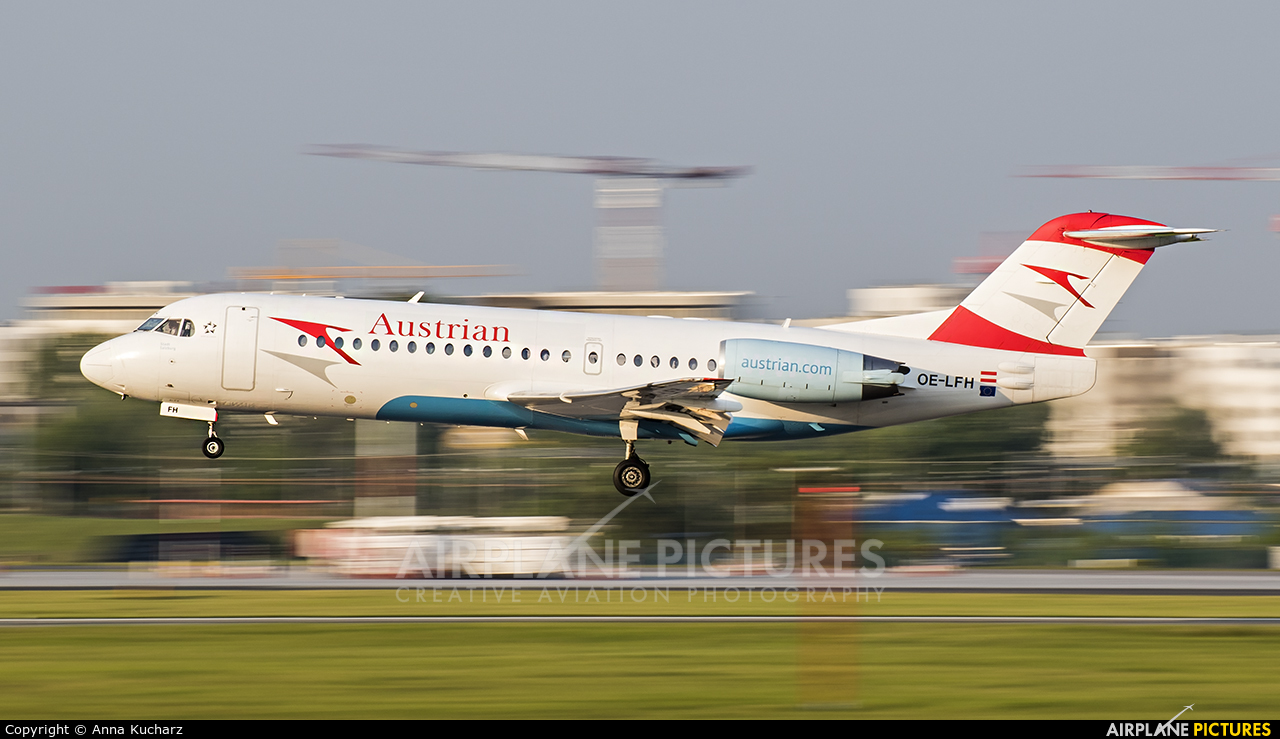 Austrian Airlines/Arrows/Tyrolean OE-LFH aircraft at Warsaw - Frederic Chopin