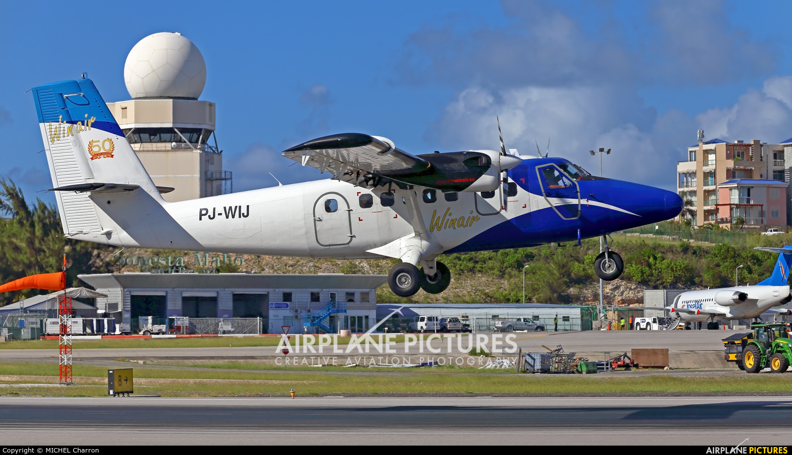 Winair PJ-WIJ aircraft at Sint Maarten - Princess Juliana Intl