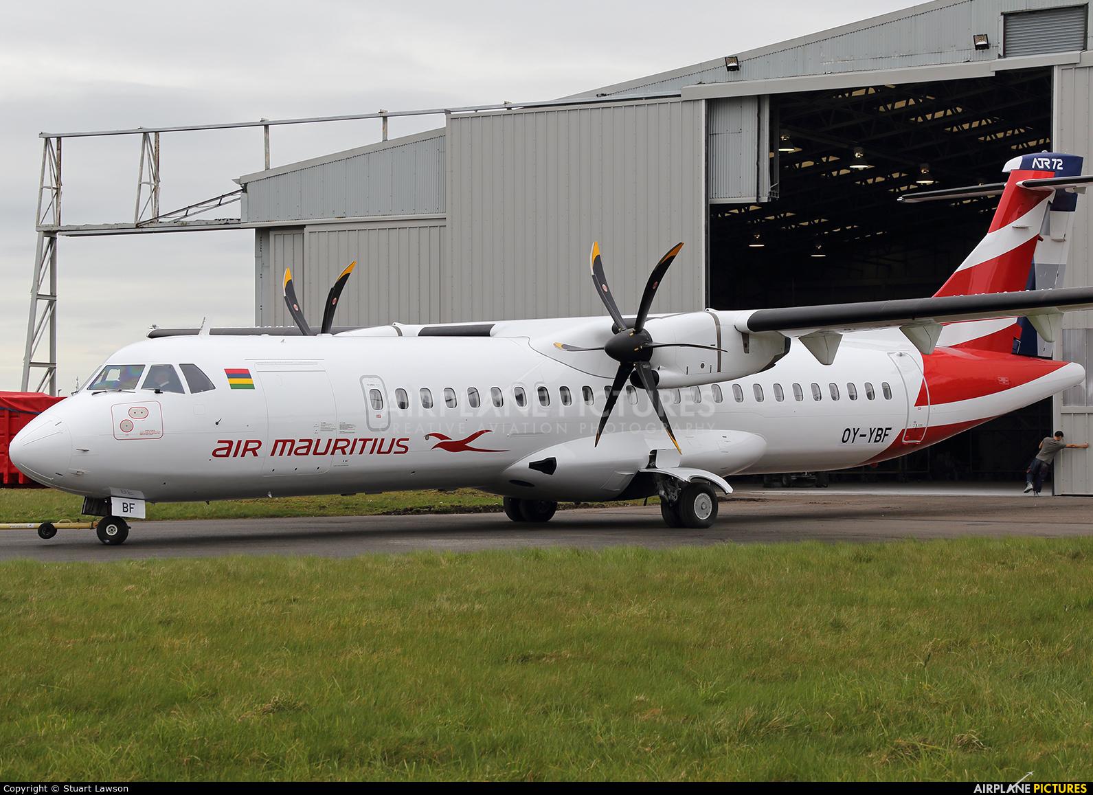 Air Mauritius OY-YBF aircraft at East Midlands