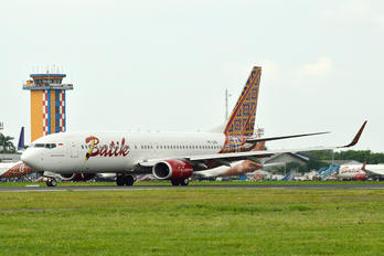 PK-LDE - Batik Air Boeing 737-800
