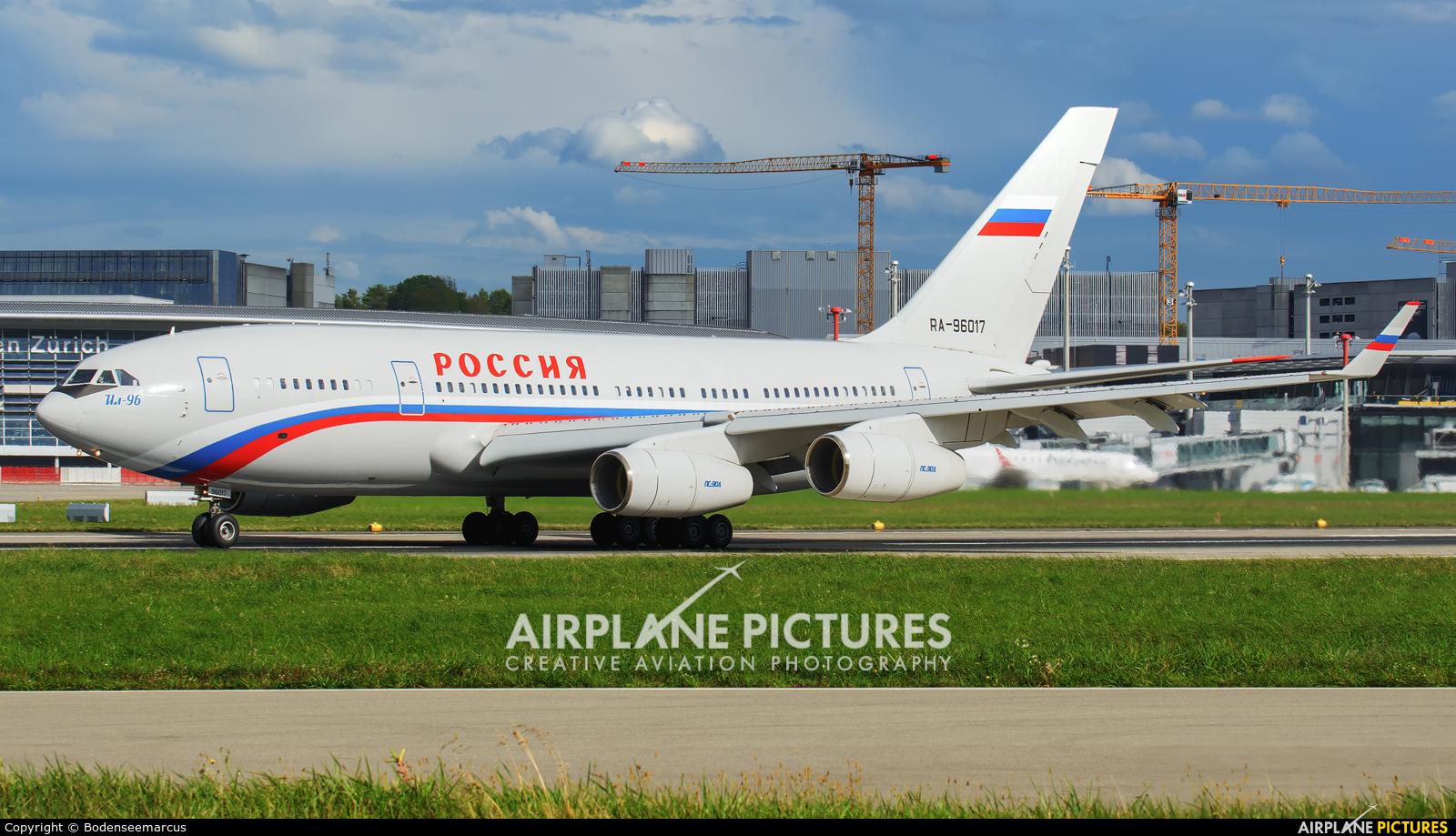 Rossiya RA-96017 aircraft at Zurich
