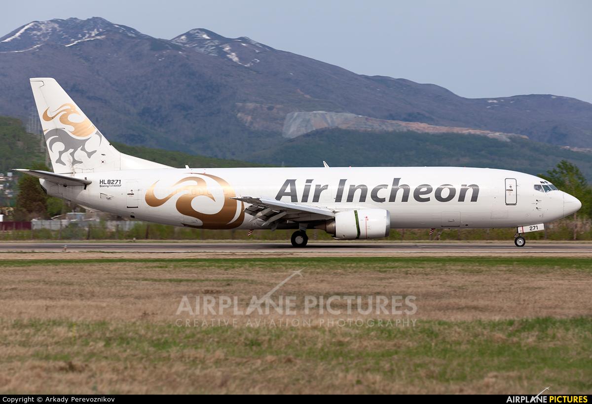 Air Incheon HL8271 aircraft at Yuzhno-Sakhalinsk