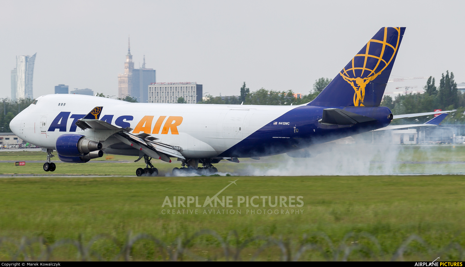 Atlas Air N412MC aircraft at Warsaw - Frederic Chopin