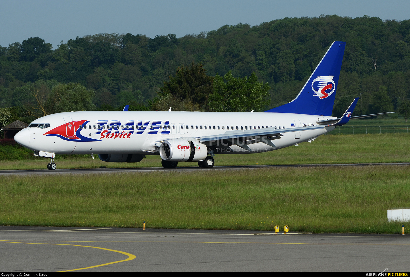 Travel Service OK-TSE aircraft at Basel - Mulhouse- Euro