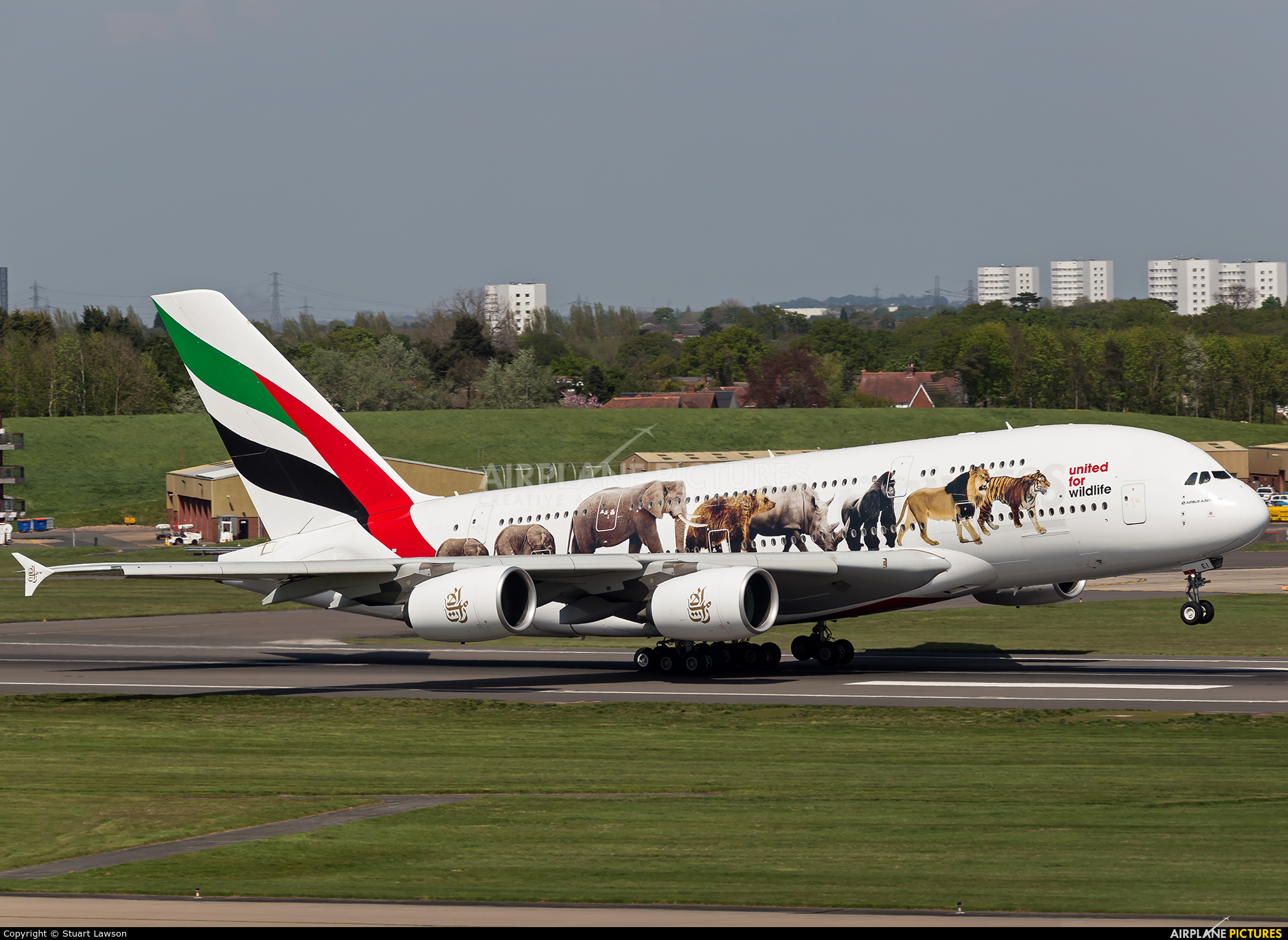 Emirates Airlines A6-EEI aircraft at Birmingham