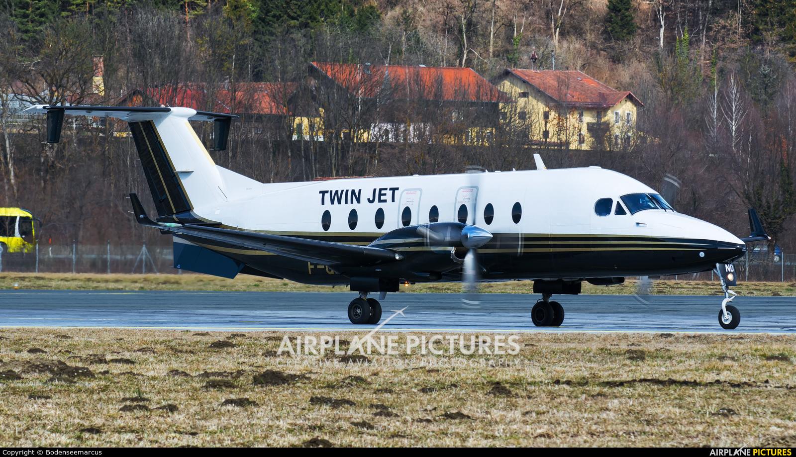 Twin Jet F-GLND aircraft at Innsbruck