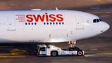 Swiss Airbus A340-300 HB-JMF at Zurich airport