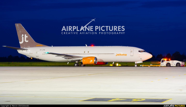 Jet Time OY-JTN aircraft at Warsaw - Frederic Chopin