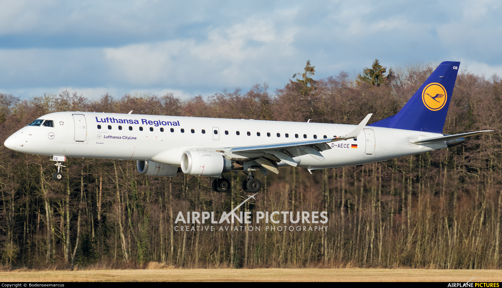 Lufthansa Regional - CityLine D-AECE aircraft at Friedrichshafen