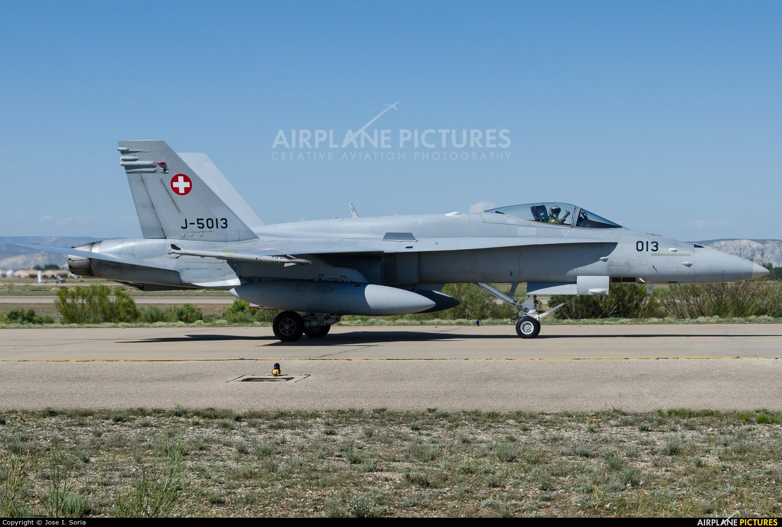 Switzerland - Air Force J-5013 aircraft at Zaragoza