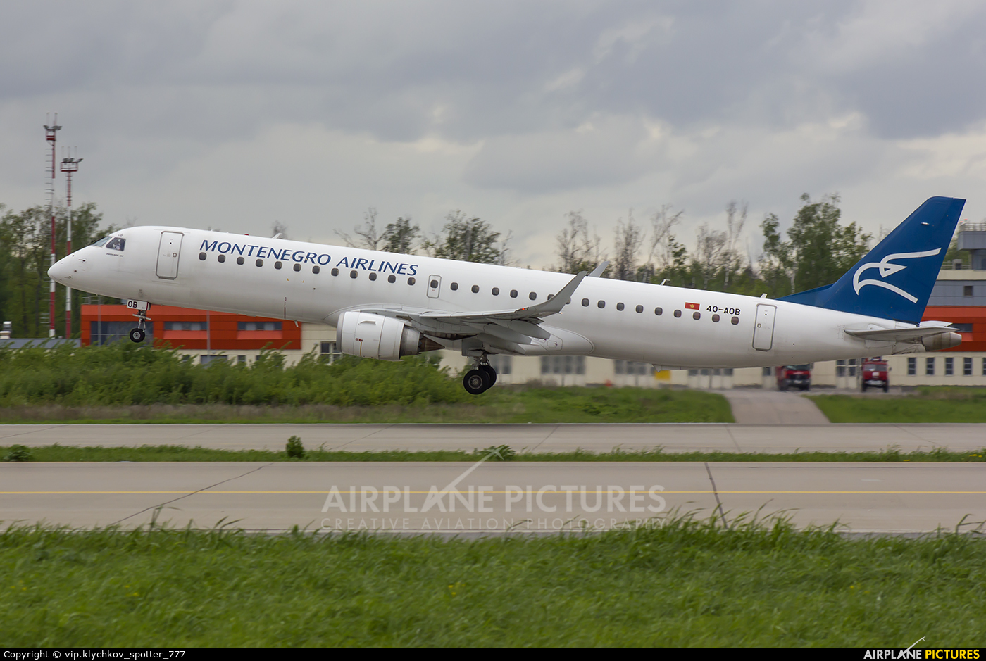Montenegro Airlines 4O-AOB aircraft at Moscow - Domodedovo