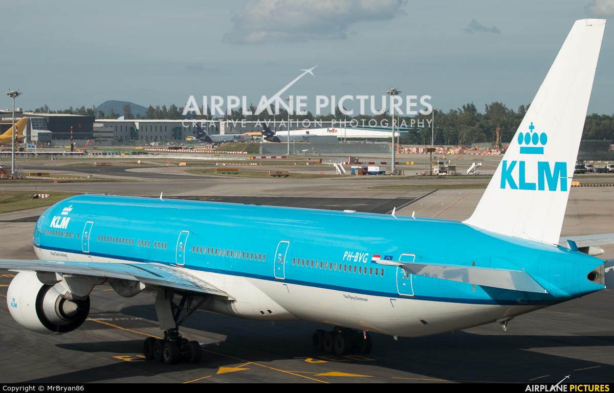 KLM PH-BVG aircraft at Singapore - Changi