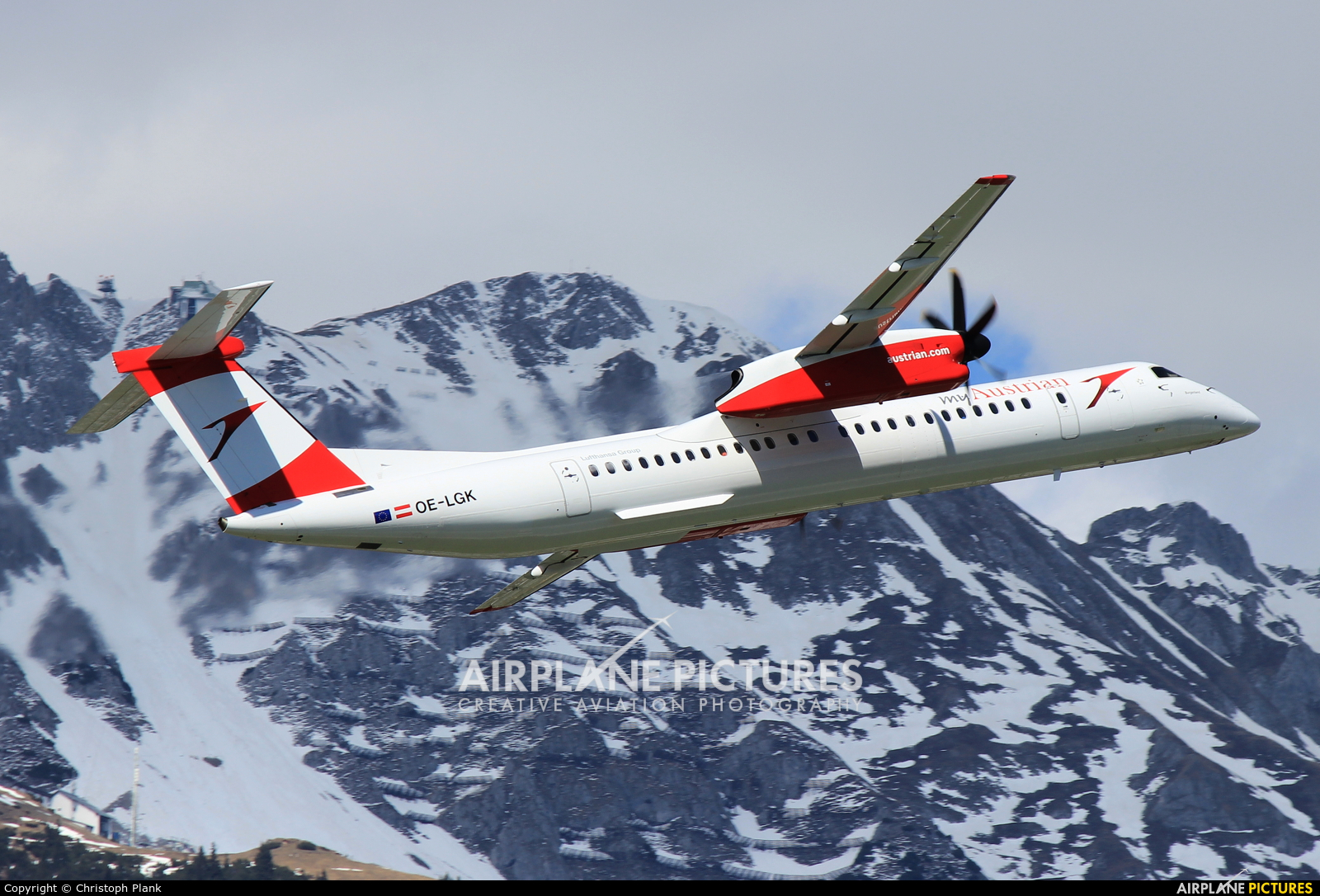 Austrian Airlines/Arrows/Tyrolean OE-LGK aircraft at Innsbruck