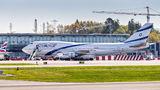 El Al Israel Airlines Boeing 747-400 4X-ELD at Bergen - Flesland airport