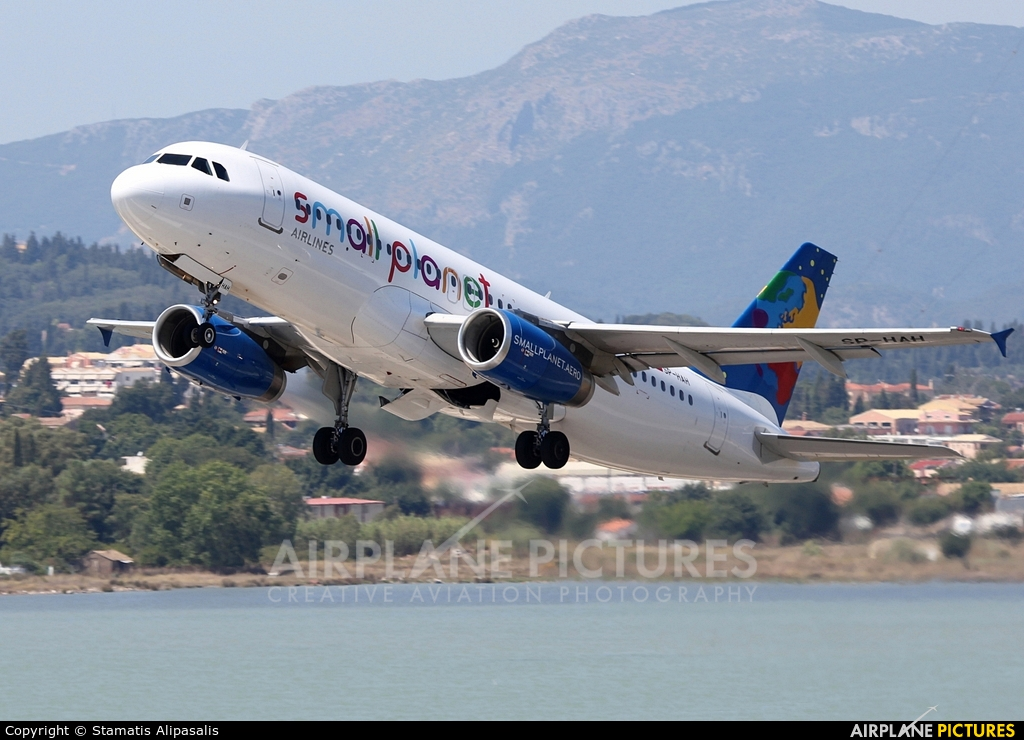 Small Planet Airlines SP-HAH aircraft at Corfu - Ioannis Kapodistrias