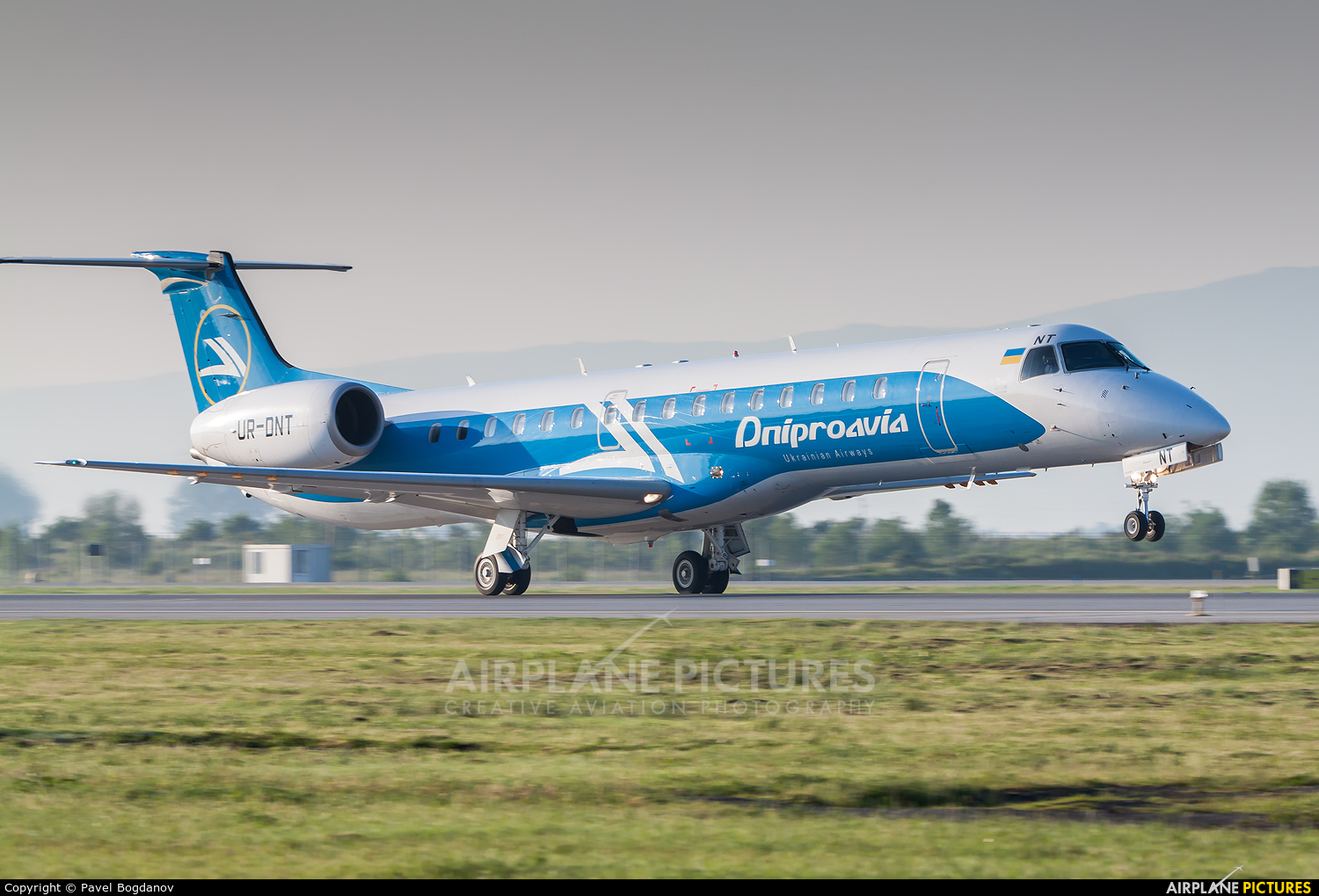 Dniproavia UR-DNT aircraft at Sofia