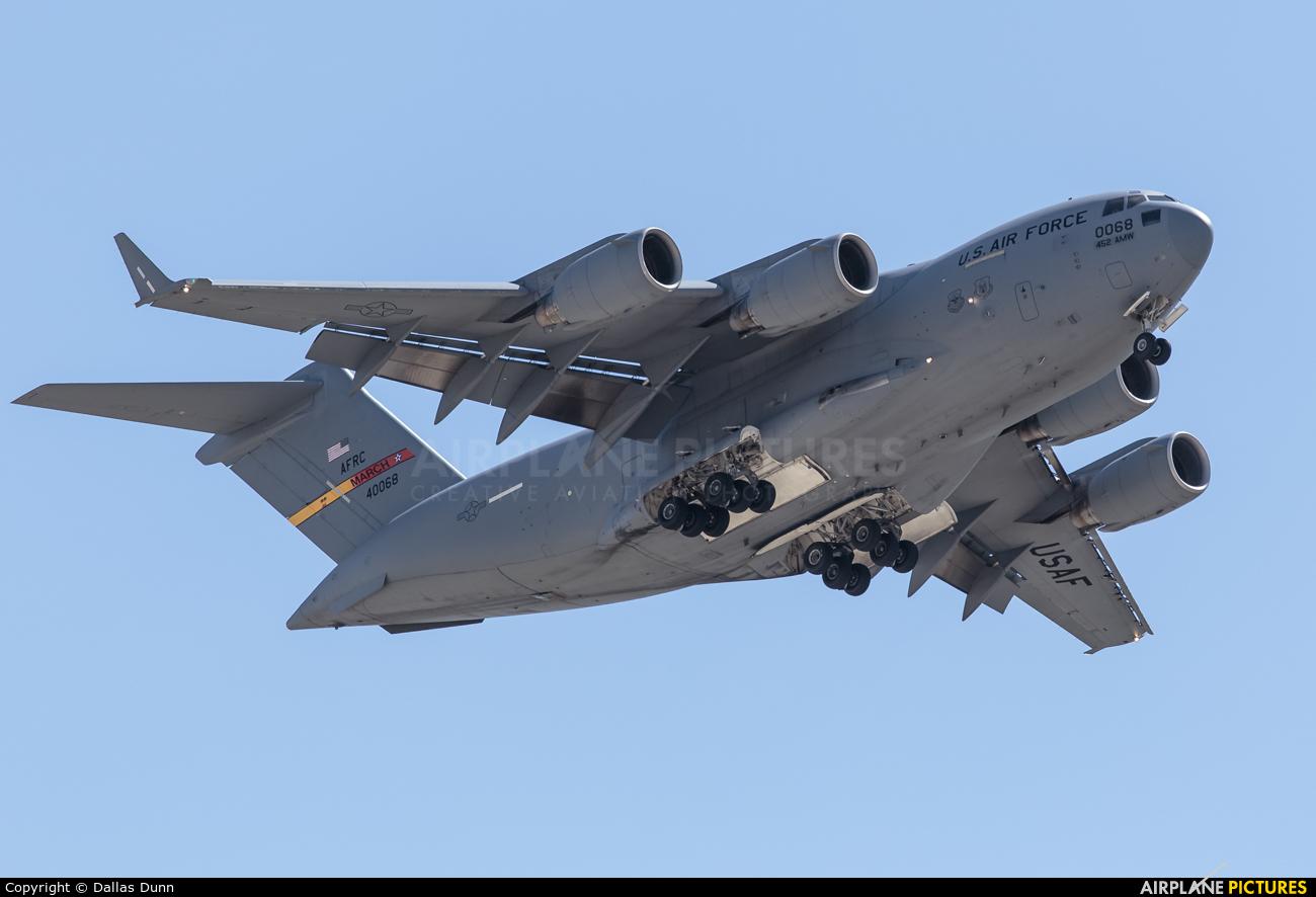 USA - Air Force 94-0068 aircraft at March JARB