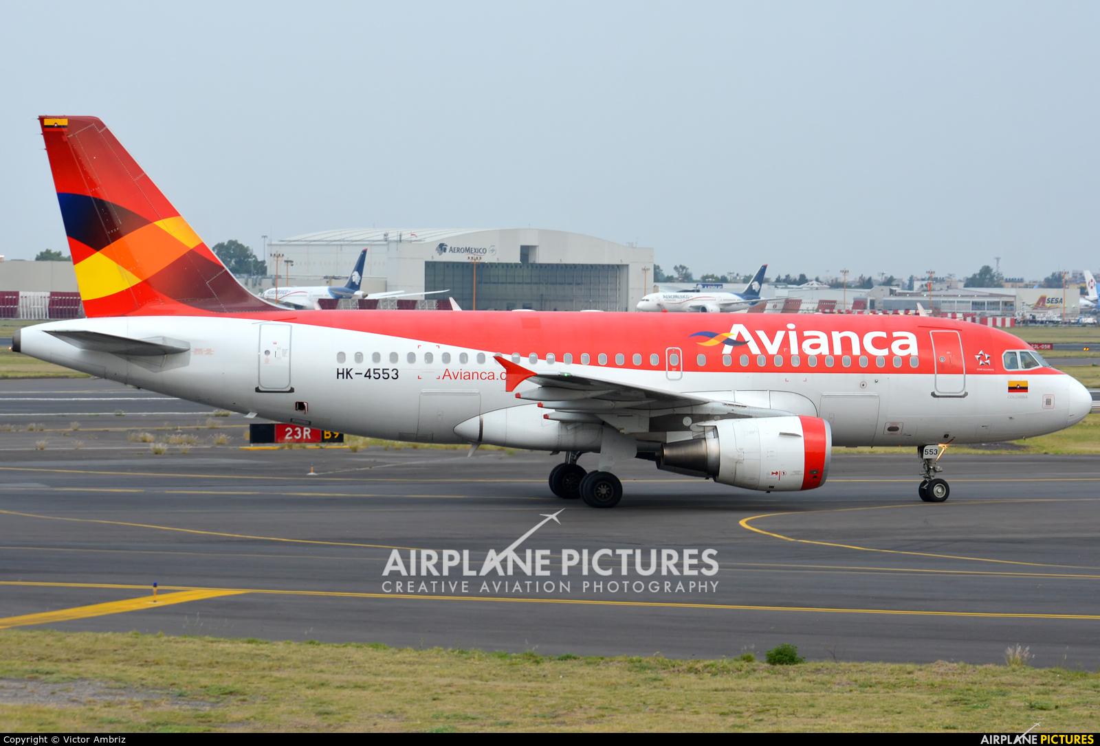 Avianca HK-4553 aircraft at Mexico City - Licenciado Benito Juarez Intl