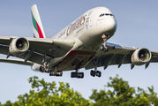 A6-EOY - Emirates Airlines Airbus A380 aircraft