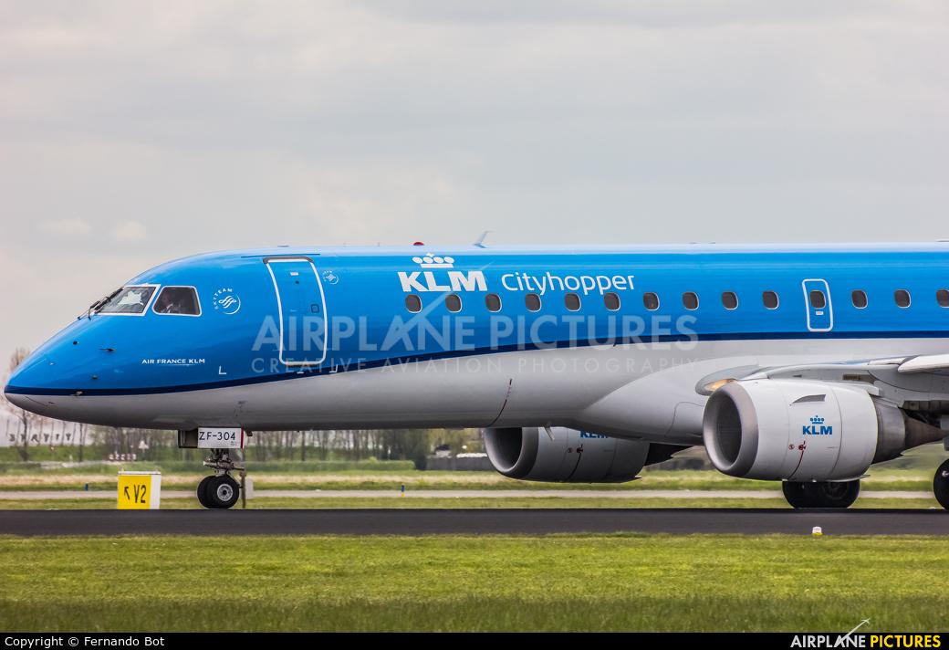 KLM Cityhopper PH-EZF aircraft at Amsterdam - Schiphol