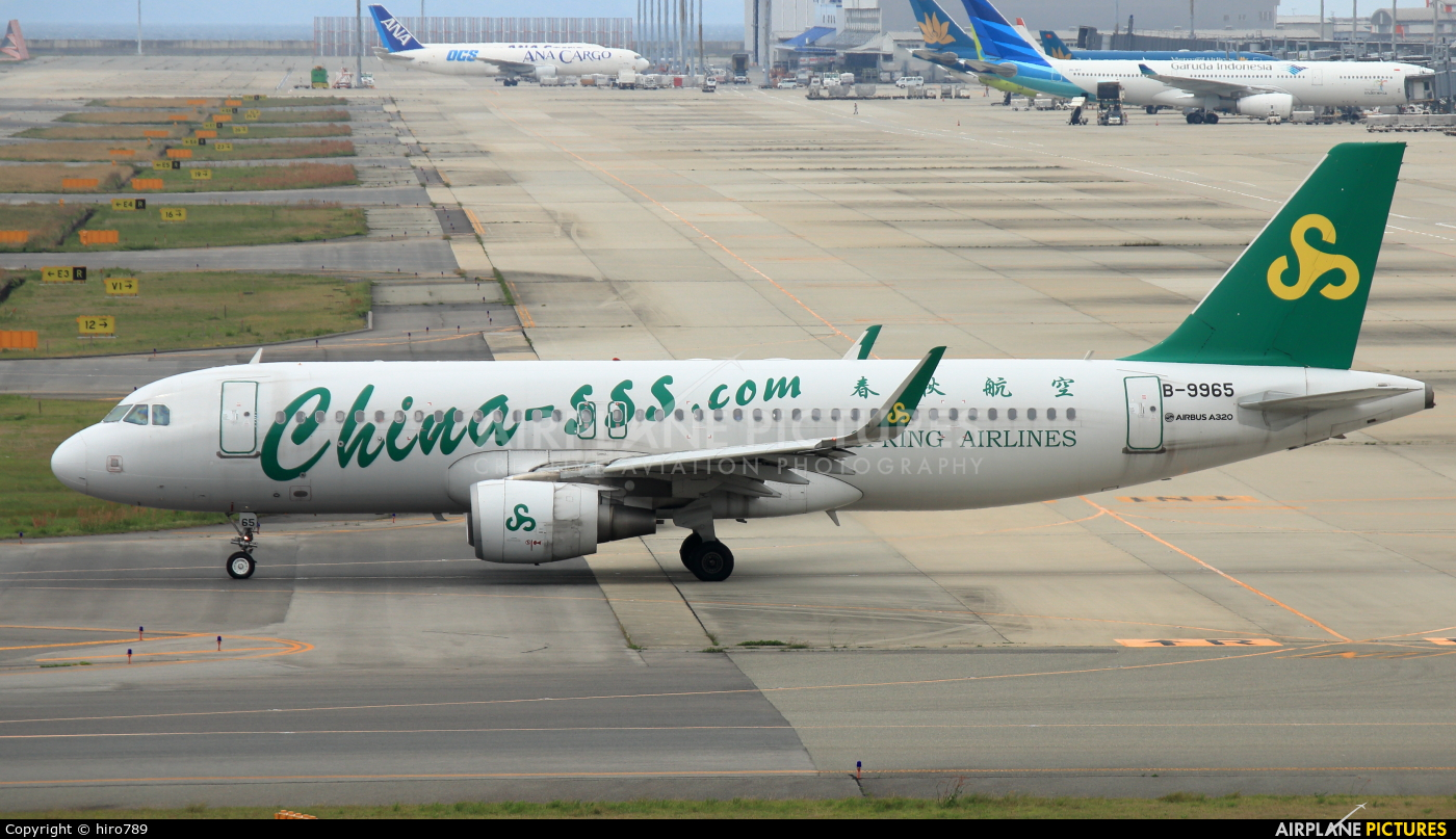 Spring Airlines B-9965 aircraft at Kansai Intl