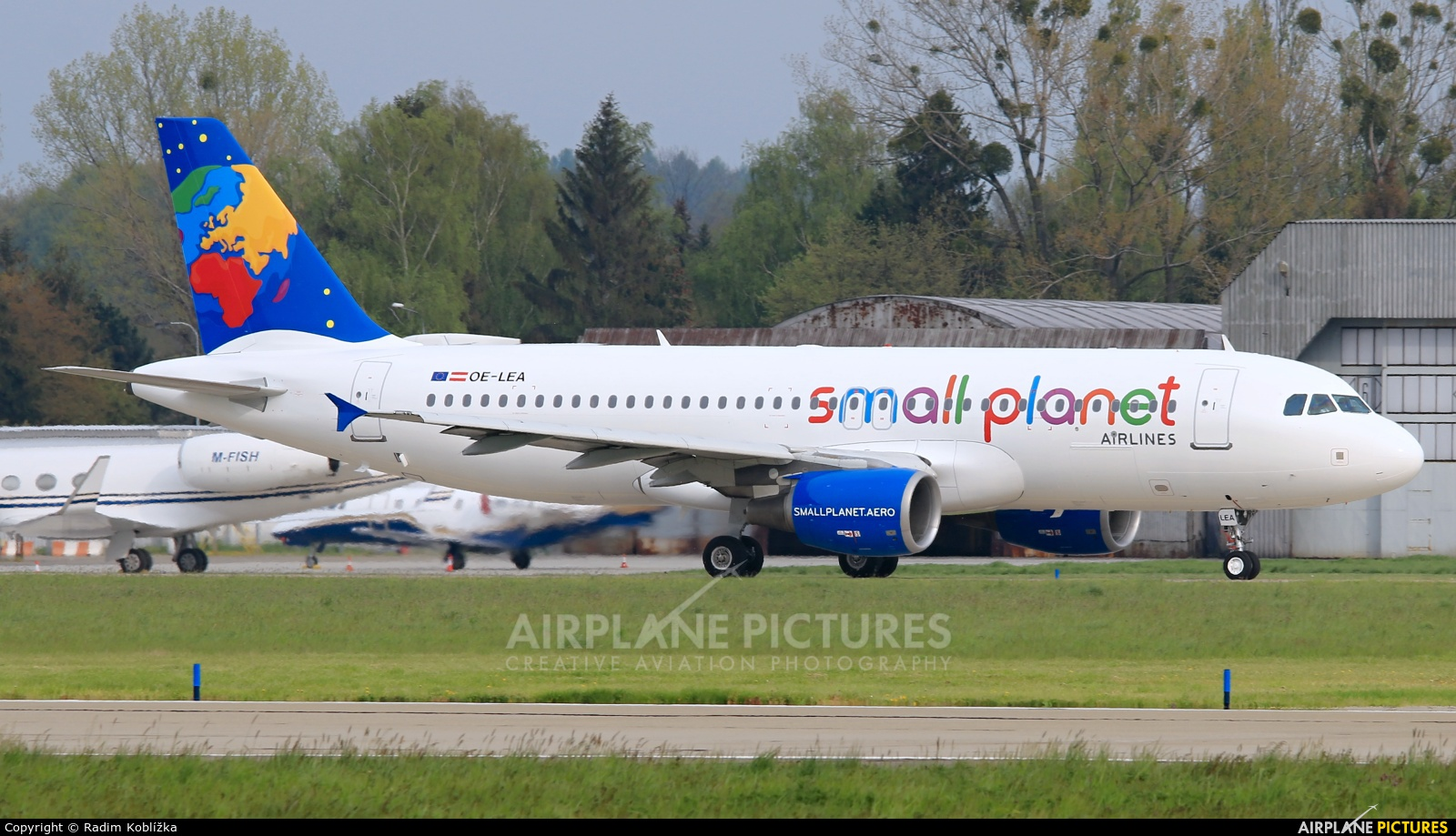 Small Planet Airlines OE-LEA aircraft at Ostrava Mošnov