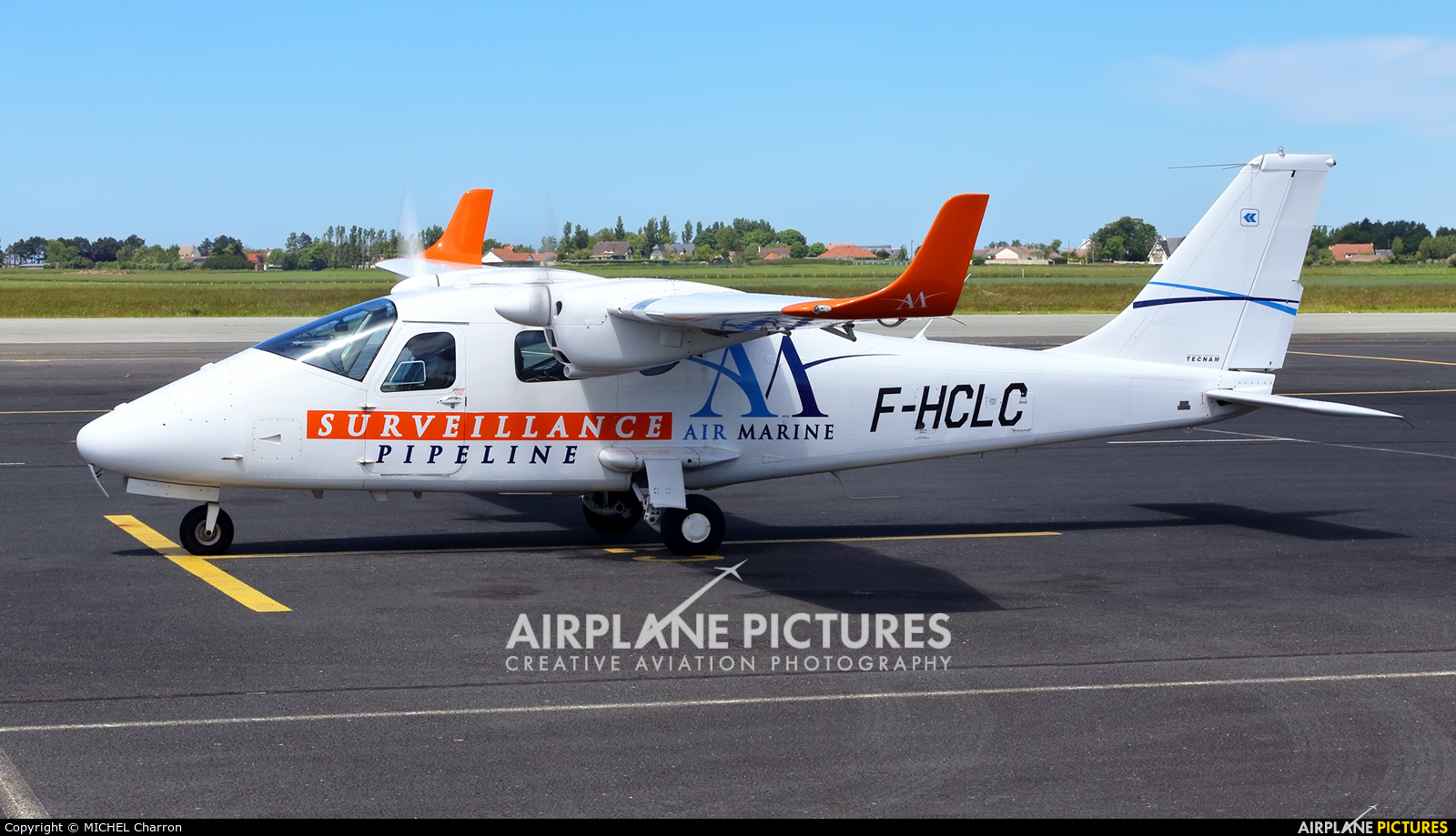 Air Marine F-HCLC aircraft at Le Havre-Octeville