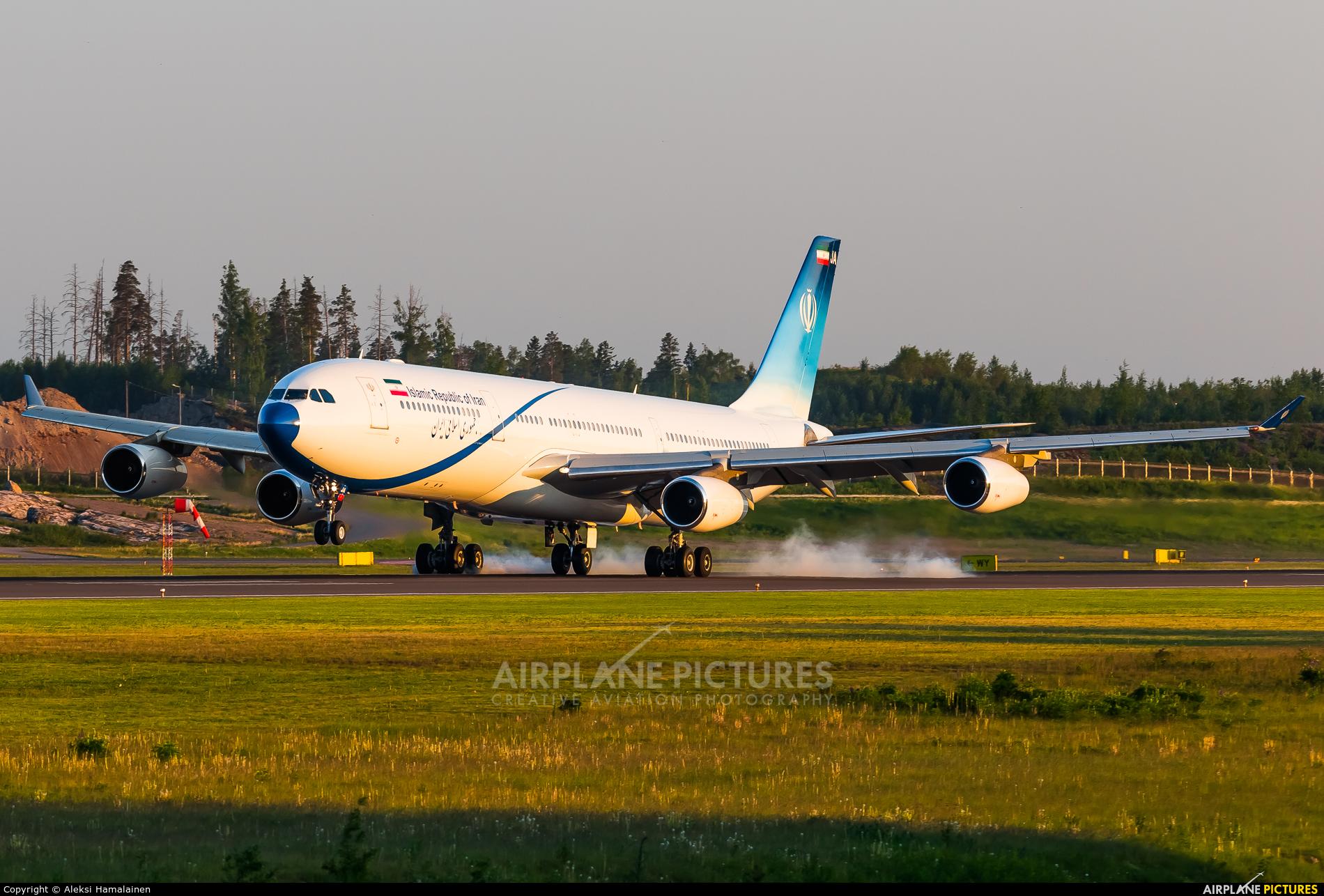 Iran - Government EP-AJA aircraft at Helsinki - Vantaa