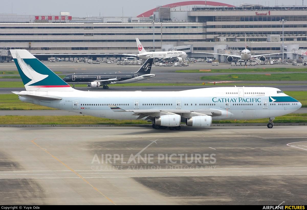 Cathay Pacific B-HUJ aircraft at Tokyo - Haneda Intl