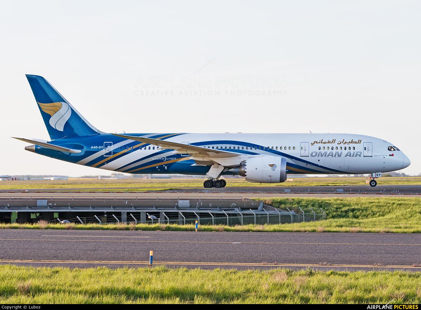 Oman Air A4O-SY aircraft at Paris - Charles de Gaulle