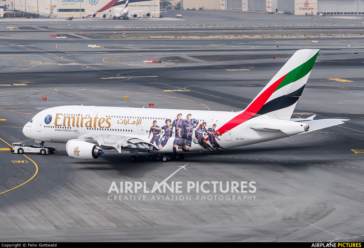 Emirates Airlines A6-EOT aircraft at Dubai Intl