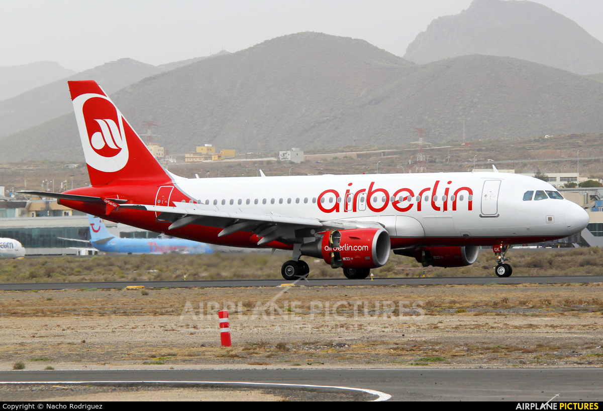Air Berlin D-ABGK aircraft at Tenerife Sur - Reina Sofia