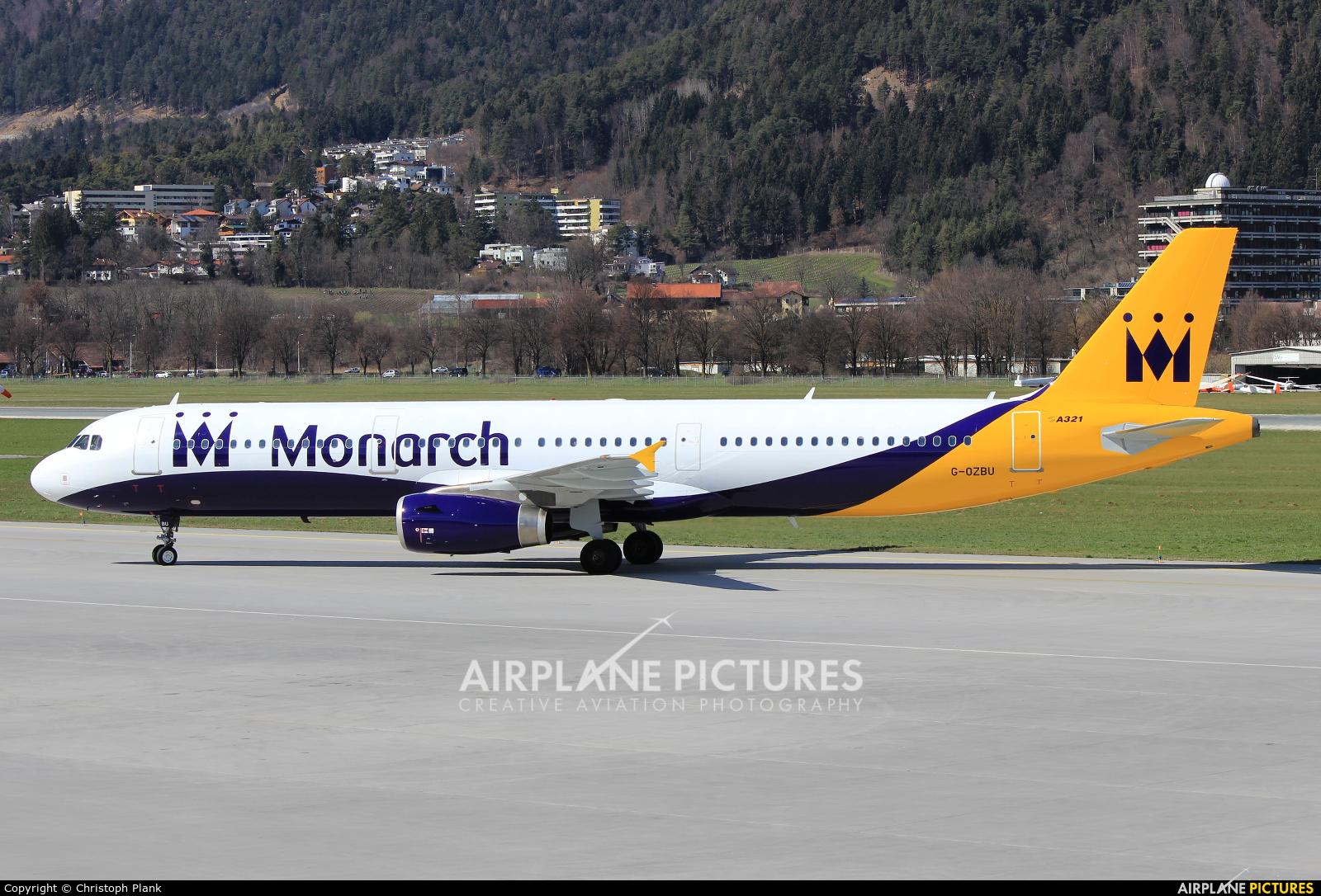 Monarch Airlines G-OZBU aircraft at Innsbruck