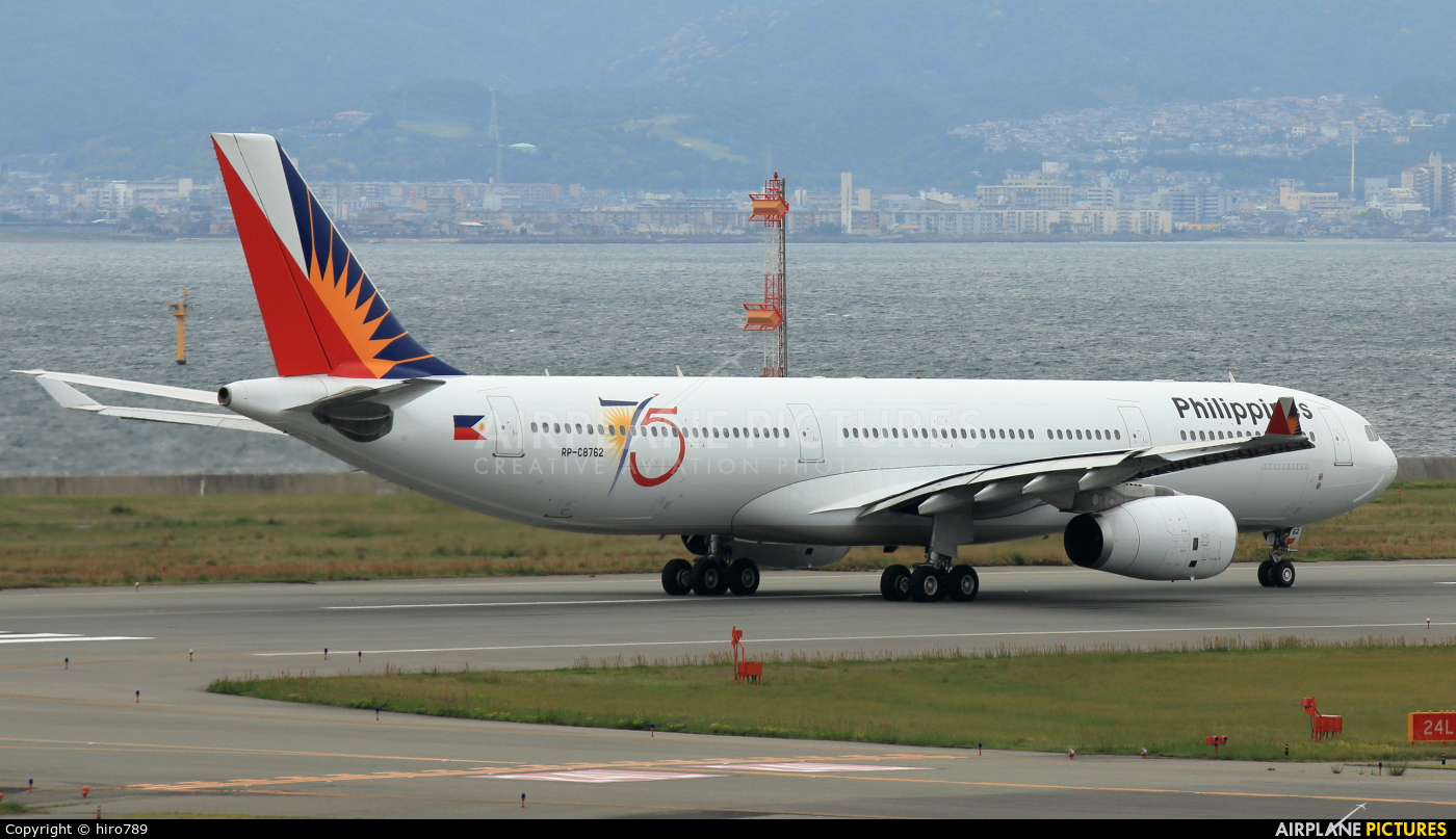 Philippines Airlines RP-C8762 aircraft at Kansai Intl