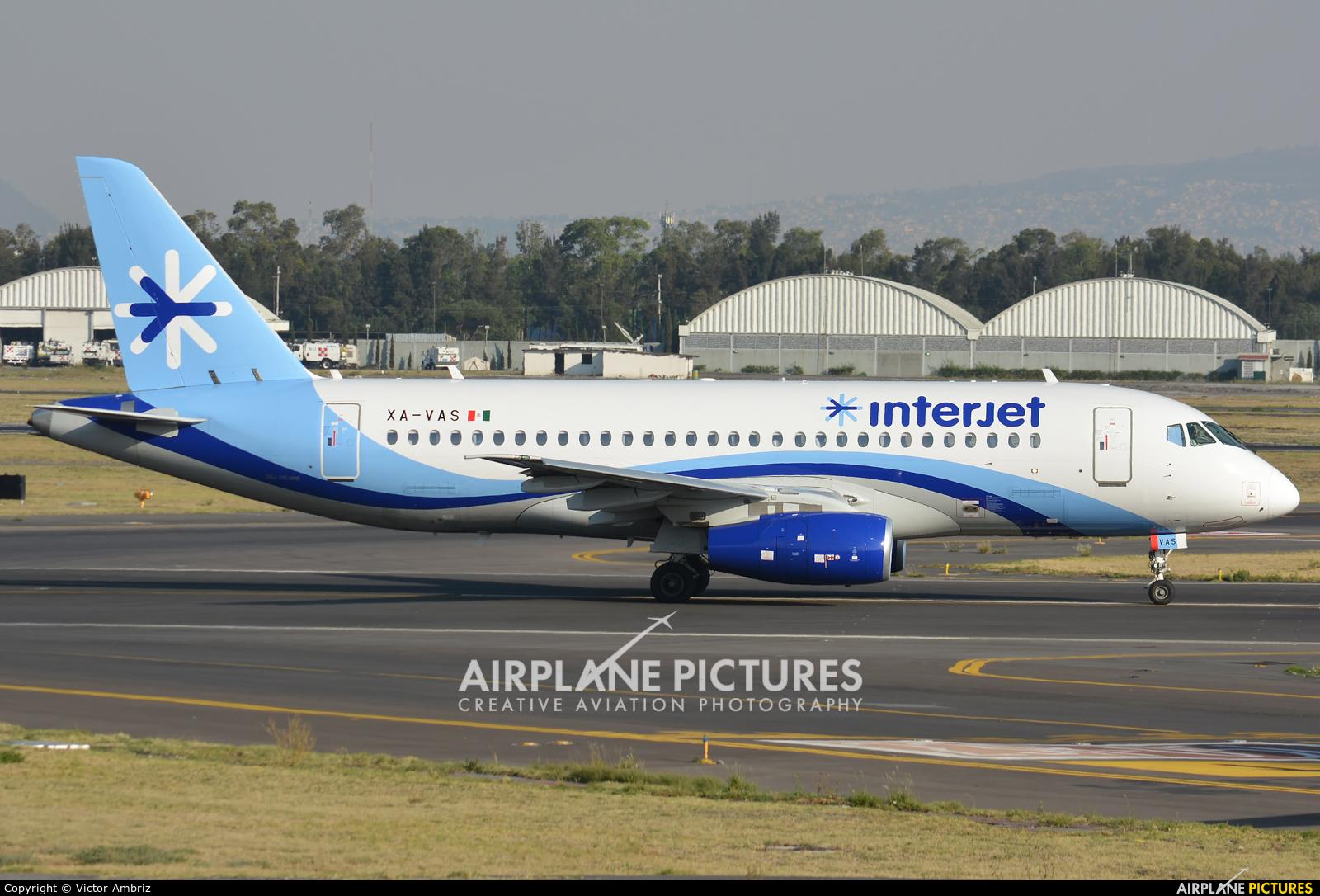 Interjet XA-VAS aircraft at Mexico City - Licenciado Benito Juarez Intl