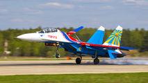 "23 - Russia - Air Force ""Russian Knights"" Sukhoi Su-27UB aircraft"