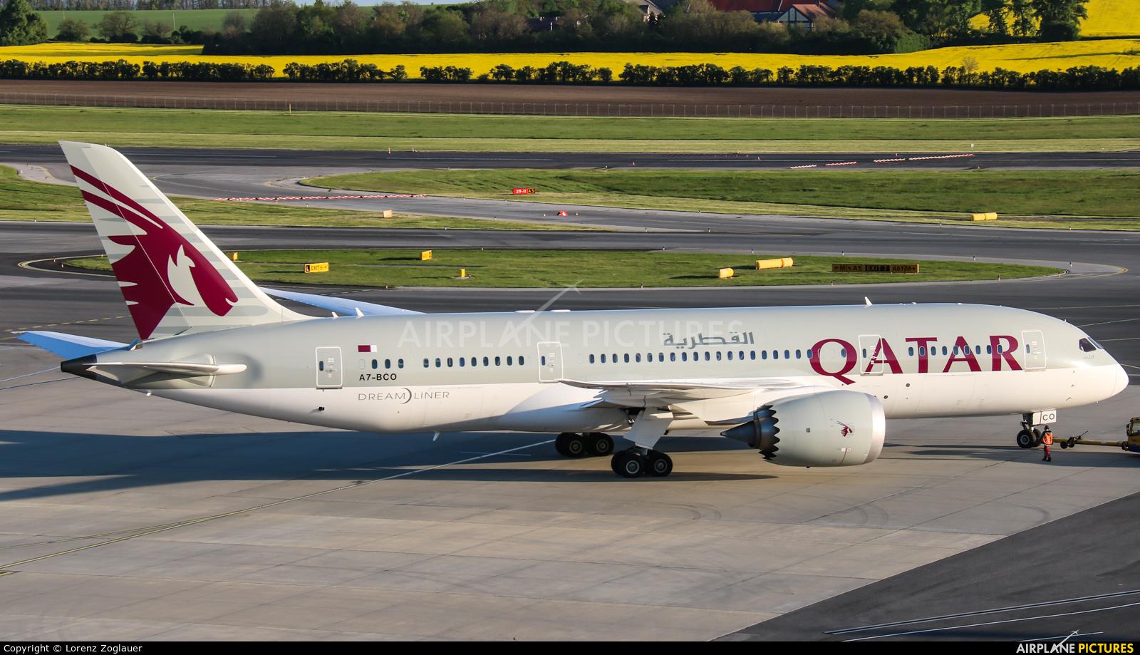 Qatar Airways A7-BCO aircraft at Vienna - Schwechat
