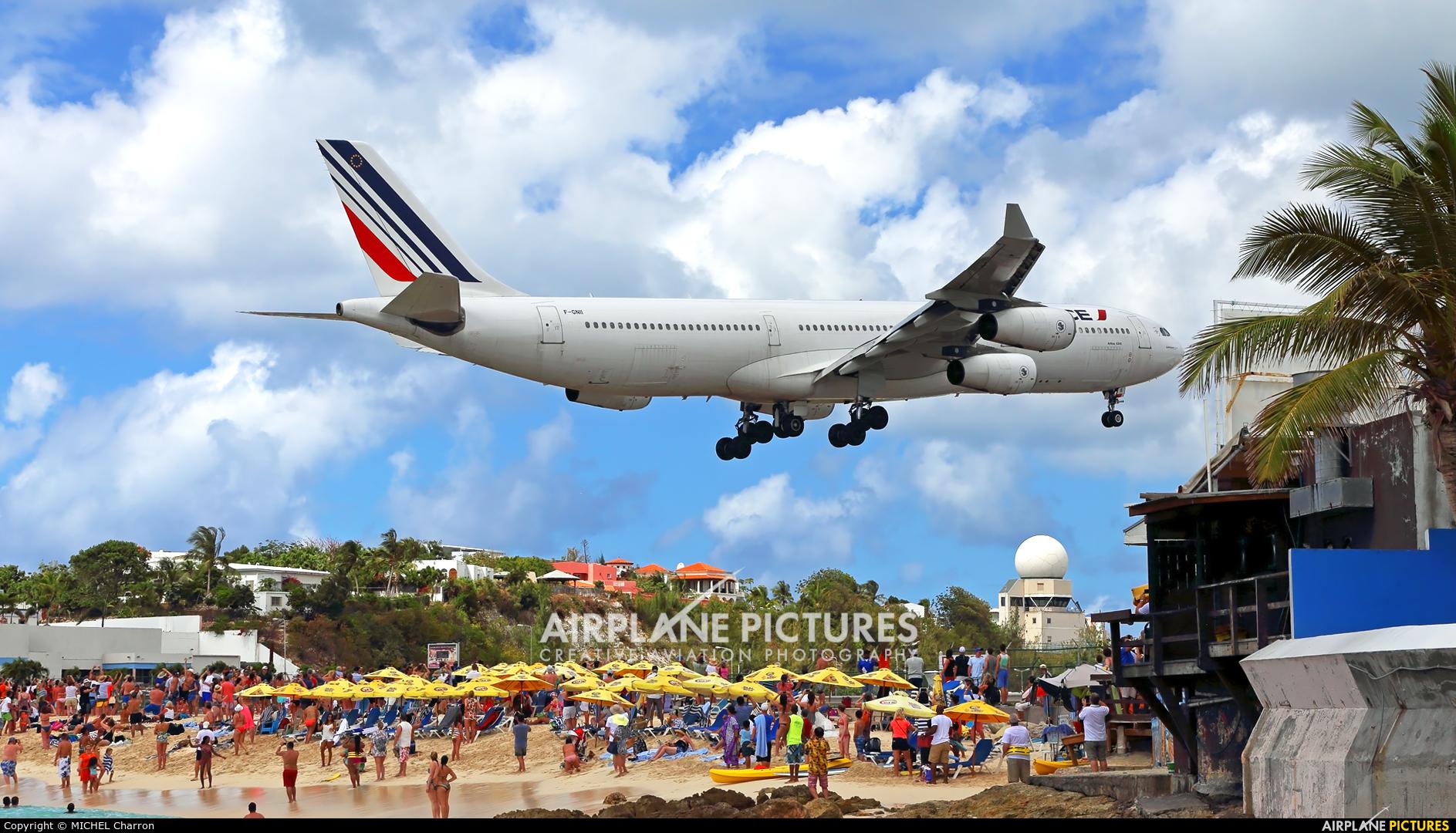 Air France F-GNII aircraft at Sint Maarten - Princess Juliana Intl