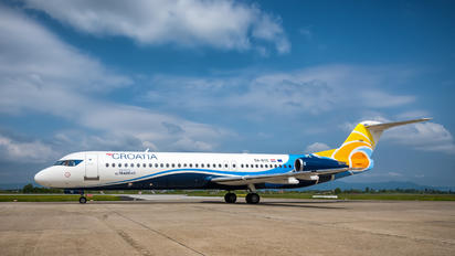 9A-BTE - Croatia Airlines Fokker 100