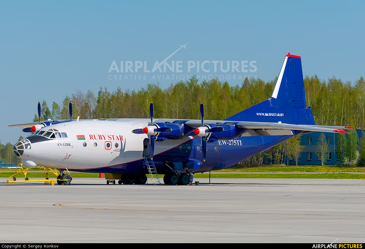 Ruby Star Air Enterprise EW-275TI aircraft at Minsk Intl